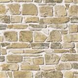 Papierové tapety na stenu kameň hnedý