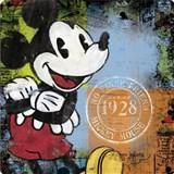 Retro tabula Mickey Mouse 30 x 30 cm