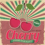 Retro tabula Cherry 30 x 30 cm