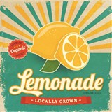 Retro tabula Lemonade 30 x 30 cm