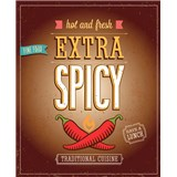 Retro tabula Extra Spicy 40 x 30 cm