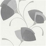 Vliesové tapety na stenu Spotlight - listy sivé - POSLEDNÉ KUSY