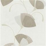 Vliesové tapety na stenu Spotlight - listy svetlo hnedé - POSLEDNÝ KUS