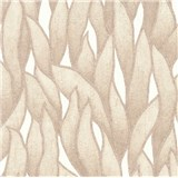 Vliesové tapety na stenu IMPOL Spotlight 3 popínavé listy hnedé na bielom podklade