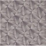 Vliesové tapety na stenu IMPOL Spotlight 3 ihlany 3D tmavo sivé s metalickými odleskami