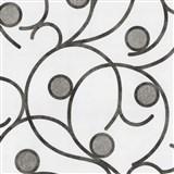 Vliesové tapety na stenu Studio Line - Magic Circles - hnedo-sivé na bielom podklade