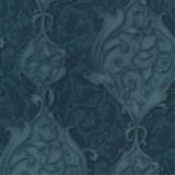Vliesové tapety na stenu Studio Line - Opulent zámocké ornamenty tyrkysové s trblietkami