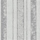 Vliesové tapety na stenu Studio Line - Opulent pruhy bielo-strieborné s trblietkami