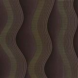 Vliesové tapety na stenu Studio Line - Graceful vlnovky zlato-hnedé
