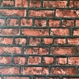 Papierové tapety na stenu Sweet & Cool tehlová stena červená