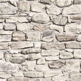 Tapety papierové - ukladaný kameň svetlo hnedý