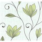 Vliesové tapety na stenu kvety zelené s trblietkami