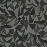 Vliesové tapety na stenu Times - 3D hrany sivo-čierne