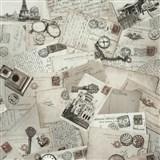 Vliesové tapety na stenu Times pohľadnice hnedé