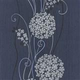 Vliesové tapety na stenu Tribute - kvety cibuľové tmavo sivé