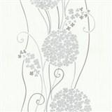 Vliesové tapety na stenu Tribute - kvety cibuľové sivé