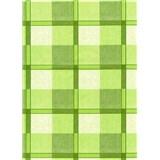 Obrus - štvorčeky zelené