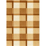 Obrus - štvorčeky hnedé