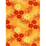 Obrus - kvety oranžové