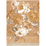 Obrusy návin 20 m x 140 cm ruže hnedé