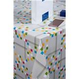 Obrus metráž štvorčeky farebné
