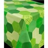 Obrus metráž geometrický vzor zelený