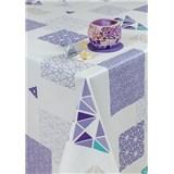 Obrusy návin 20 m x 140 cm geometrický vzor fialový