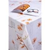 Obrusy návin 20 m x 140 cm Romantic oranžový