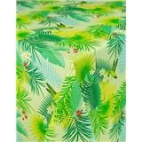 Obrus metráž tropické listy s textilnou štruktúrou