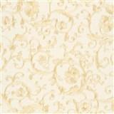 Luxusné vliesové  tapety na stenu Versace III klasický barokový vzor béžovo-zlatý
