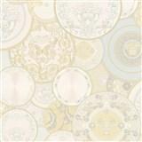 Luxusné vliesové  tapety na stenu Versace III koláž bielo-béžová