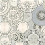 Luxusné vliesové  tapety na stenu Versace III koláž sivo-strieborná