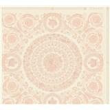 Luxusné vliesové  tapety na stenu Versace IV barokové ornamenty ružovo-biele