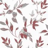 Vliesové tapety na stenu IMPOL Wall We Love 2 listy bordovo červeno-sivé s metalickým odleskom