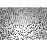 Vliesové fototapety 3D pentagony biele rozmer 368 x 254 cm