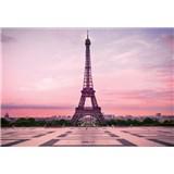 Vliesové fototapety Eiffelova veža pri úsvite rozmer 368 x 254 cm