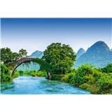 Vliesové fototapety most cez rieku v Číně rozmer 368 x 254 cm