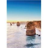 Fototapety útes pri západe slnka v Austrálii rozmer 184 x 254 cm