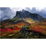 Vliesové fototapety hory na Islandě rozmer 368 cm x 254 cm
