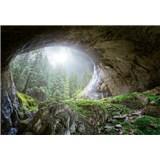 Vliesové fototapety jaskyňa v lese rozmer 368 x 254 cm