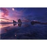 Vliesové fototapety zátoka pri západe slnka rozmer 368 x 254 cm