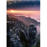 Fototapety východ slnka vo skalách rozmer 184 x 254 cm