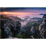 Vliesové fototapety východ slnka vo skalách rozmer 368 x 254 cm