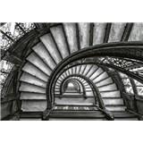 Vliesové fototapety staré schodisko rozmer 368 x 254 cm