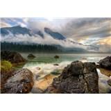 Vliesové fototapety horské jazero rozmer 368 cm x 254 cm
