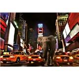 Vliesové fototapety slon v New Yorku rozmer 368 x 254 cm
