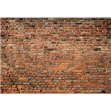 Vliesové fototapety tehlová červená stena rozmer 368 x 254 cm