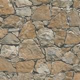 Vliesové tapety na stenu IMPOL prírodný kameň hnedý