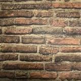 Vliesové tapety na stenu tehlová stena hnedá
