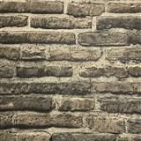 Vliesové tapety na stenu tehlová stena sivá